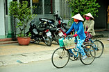 Vietnamese ladies on Bicycles