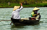 Traditional fishing on Thu Bon River