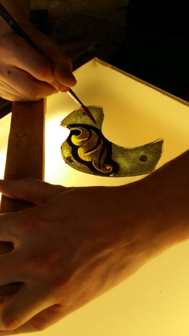 Atelier du vitrail pierre gu rin peinture sur verre for Peinture sur verre