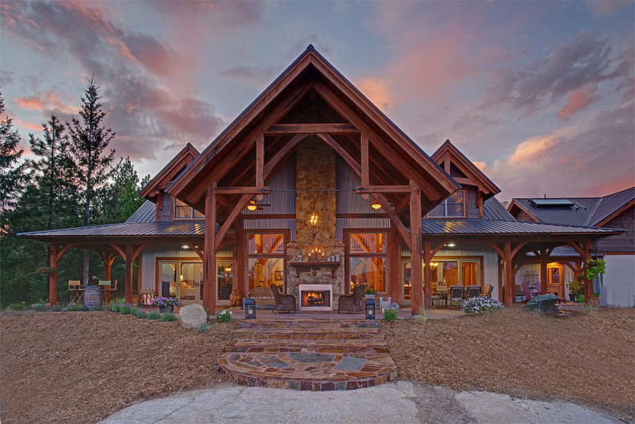Fall creek timber frames custom timber frame homes for Timberframe house