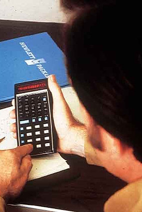 HPs handheld calculator.