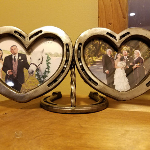 double heart horseshoe frame