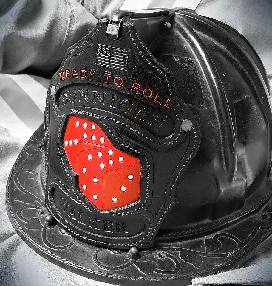 Leather helmet shields