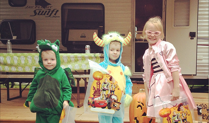 trick-or-treating in August!