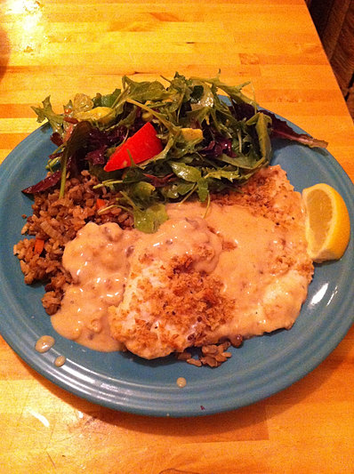 ling cod, lentils and salad oh my!