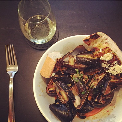 Laura Hayes' Chorizo Mussels