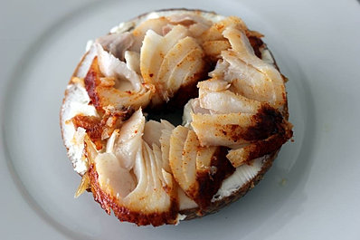 Max Sung's blackcod party bagel...