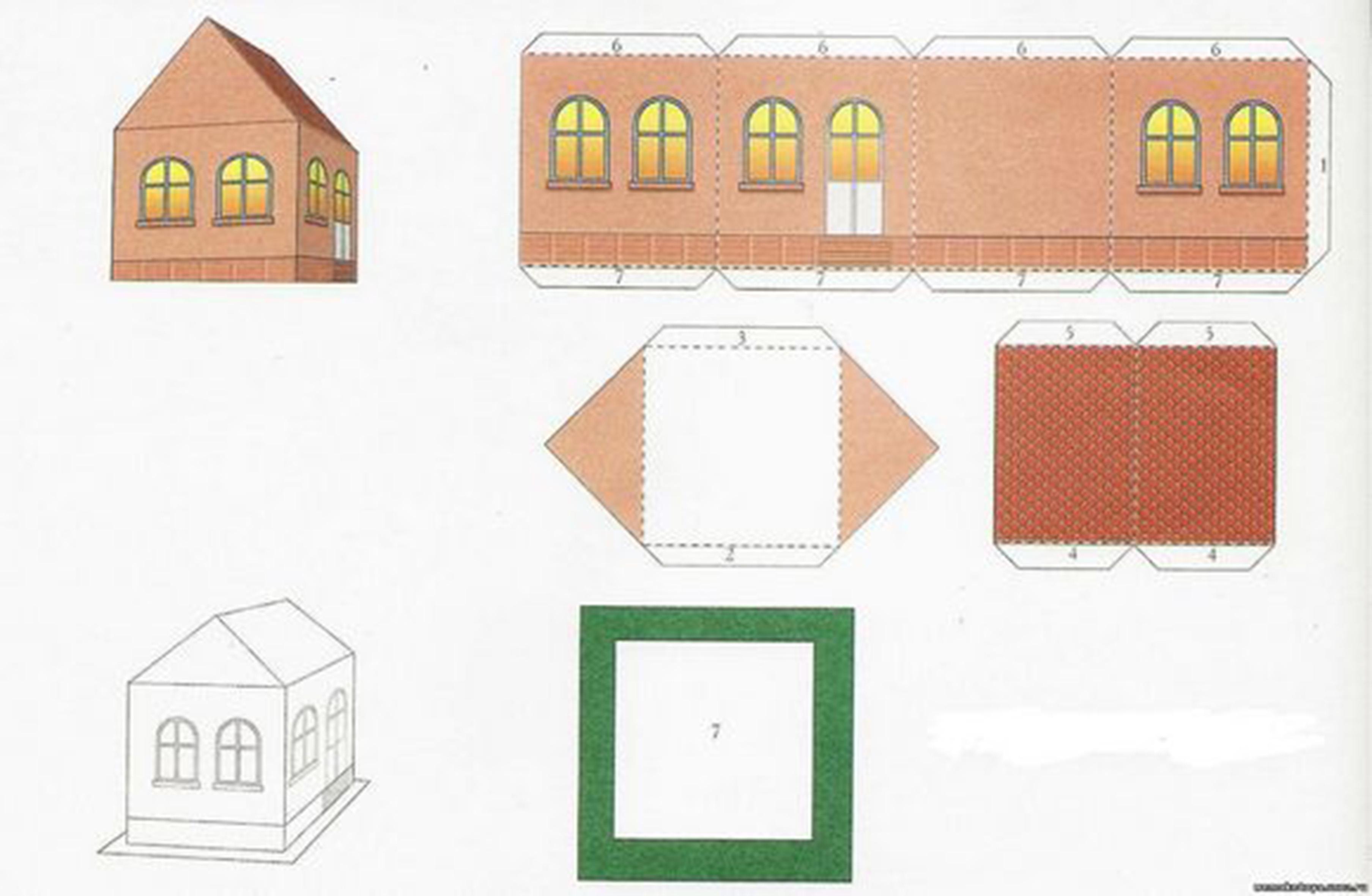 Макеты домов своими руками схемы для распечатки
