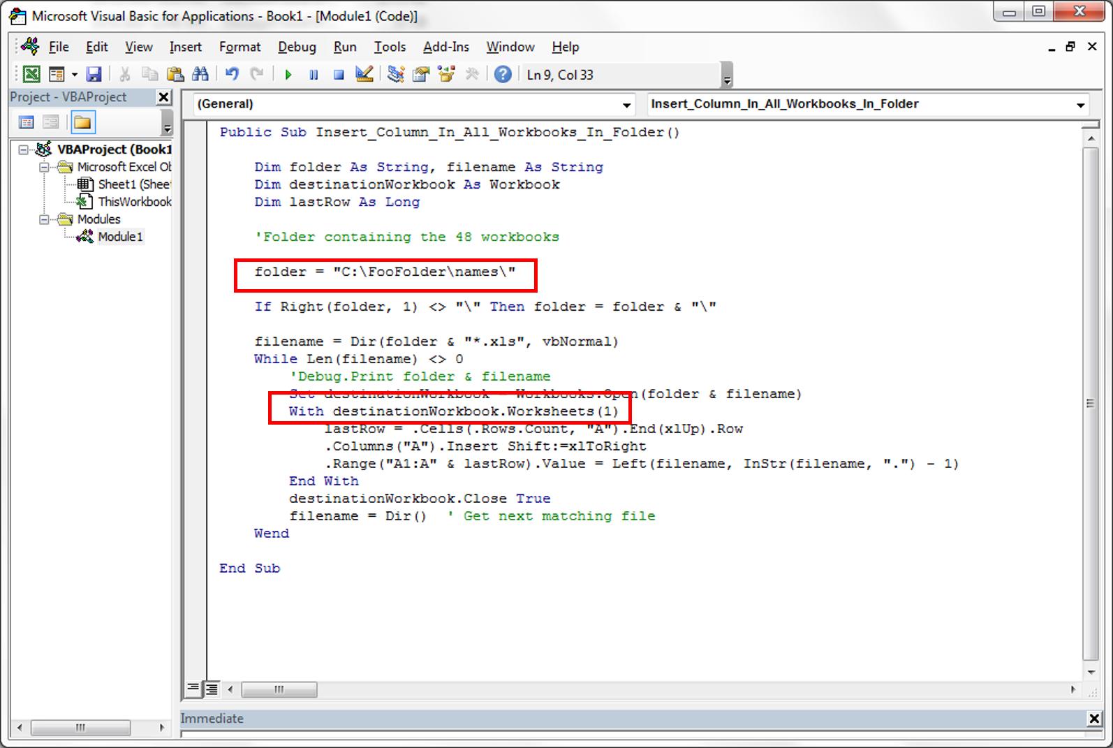 Workbooks vba workbooks.open : Excel VBA Code to insert workbook name in multiple files ...