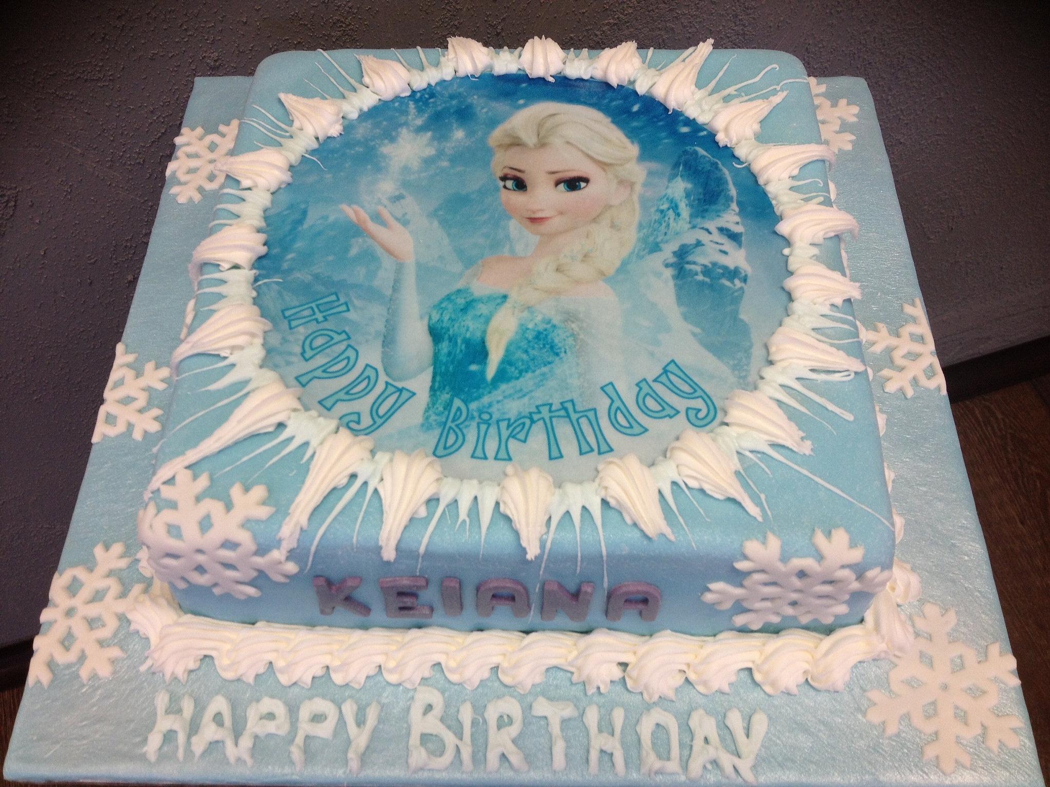 Frozen Square Cakes Ideas For Birthdays 89530