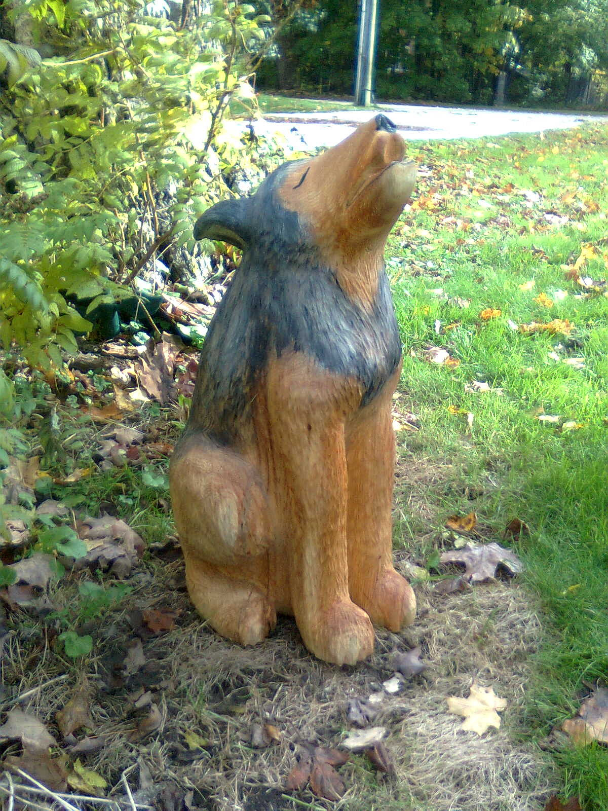 Ben the woodcarver chainsaw carvings for sale howling
