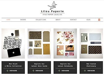 Paperie Template - Reach out to lovers of handicrafts with this clean and elegant eCommerce template. Tell the story of your business, add a helpful FAQ, and customize the galleries to show off your products in style. Use the Blog page to keep your followers up to date on your latest activities.