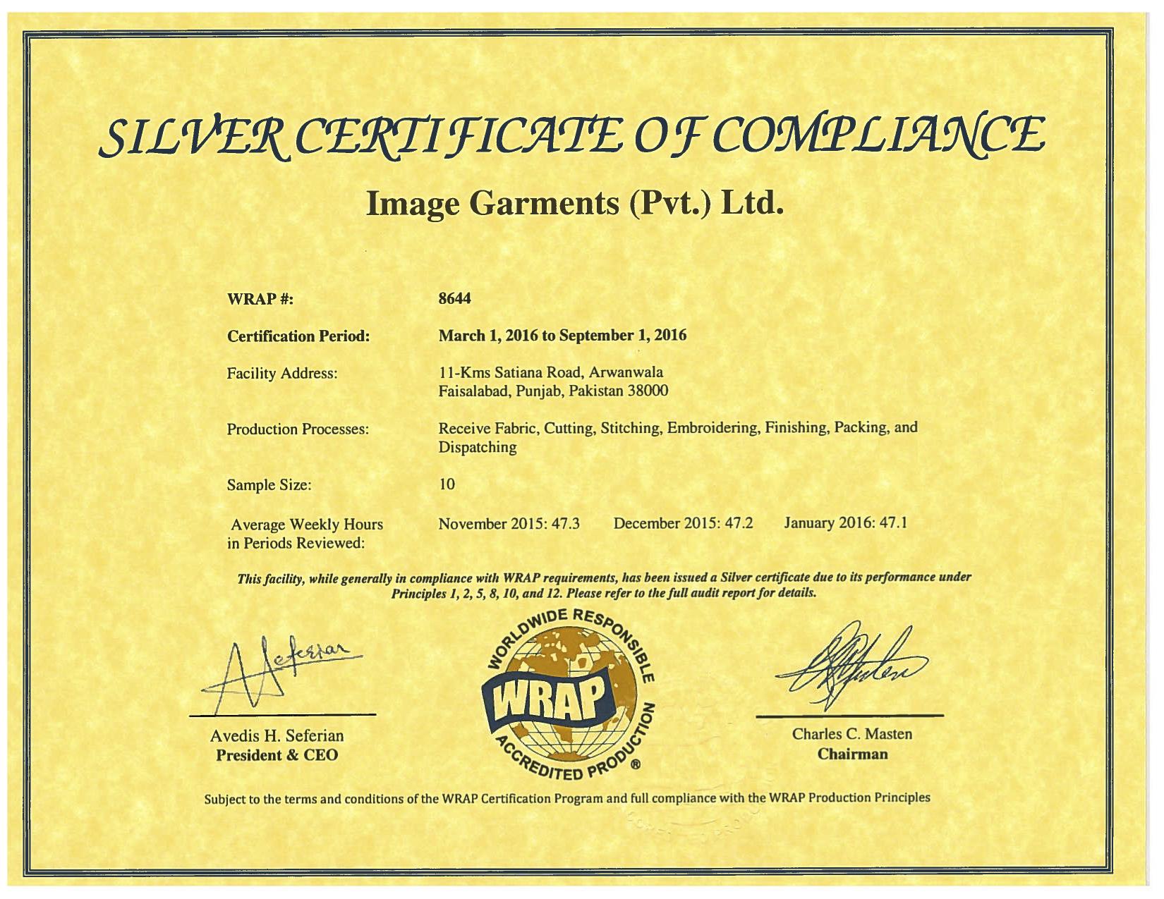 Wrap certificate renewed best workwear from pakistan xflitez Choice Image