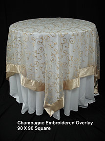 Champagne Embroidered