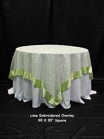 Lime Green Embroidered