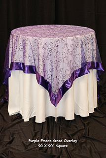 Purple Embroidered