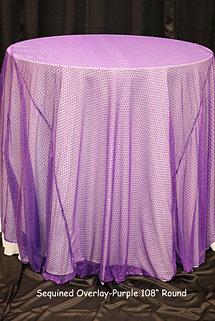 Purple Sequin Overlay