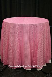 Pink Sequin Overlay