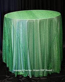 Green Sequin Overlay