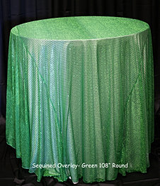 Green Sequin Overlay