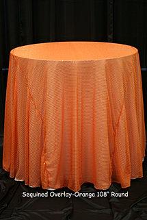 Orange Sequin Overlay