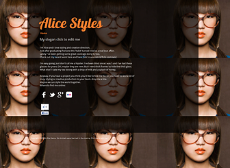 My Bio One Pager Website Template | WIX