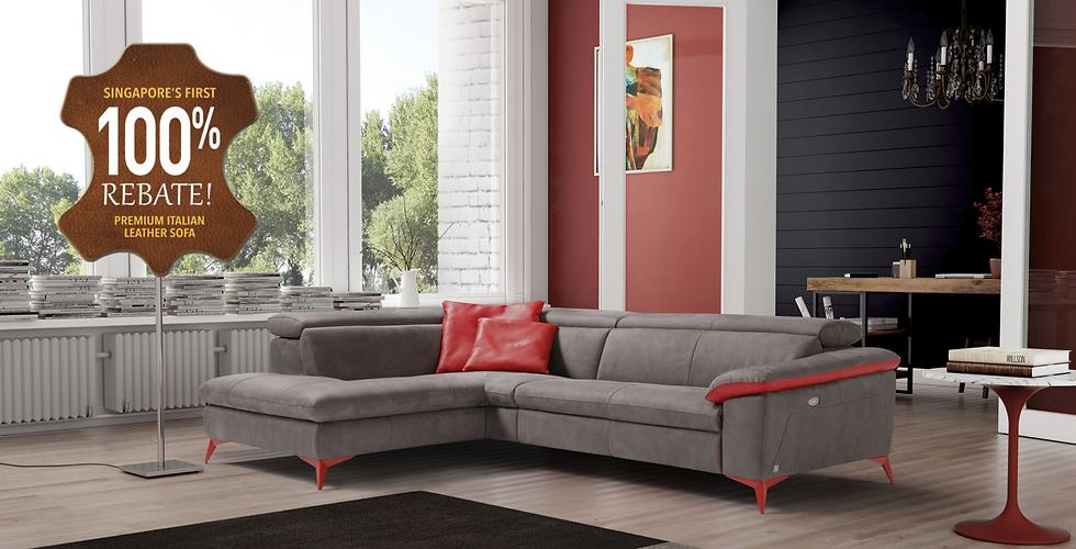 Italian Leather Sofa Singapore Fabric Or Leather Sofa