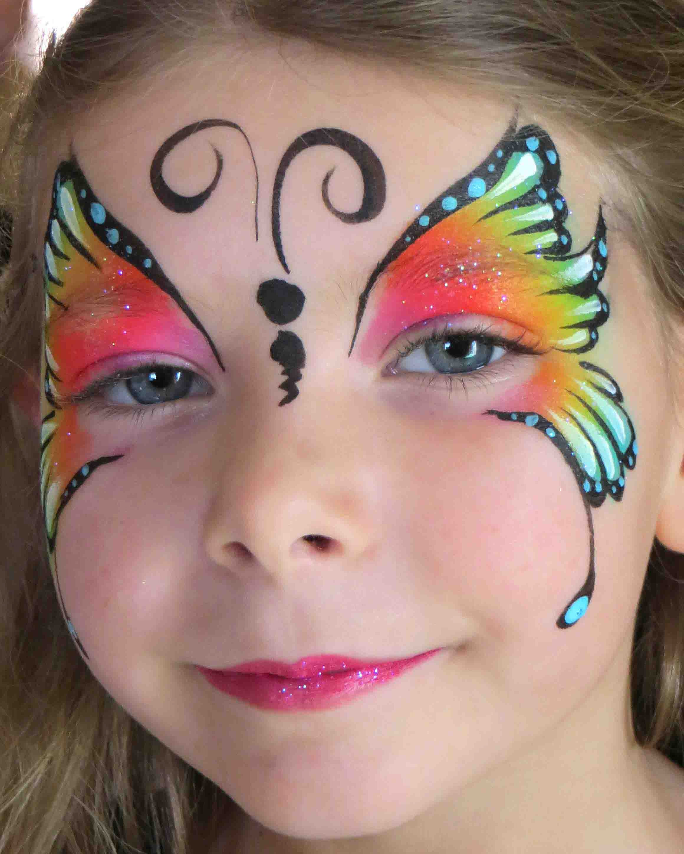 face painting by Amazing Face Art face painter in CTSimple Butterfly Face Paint