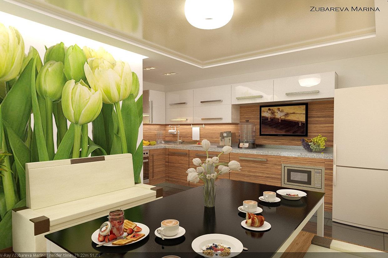 Дизайн стены кухни фото 2016-2017 современные идеи