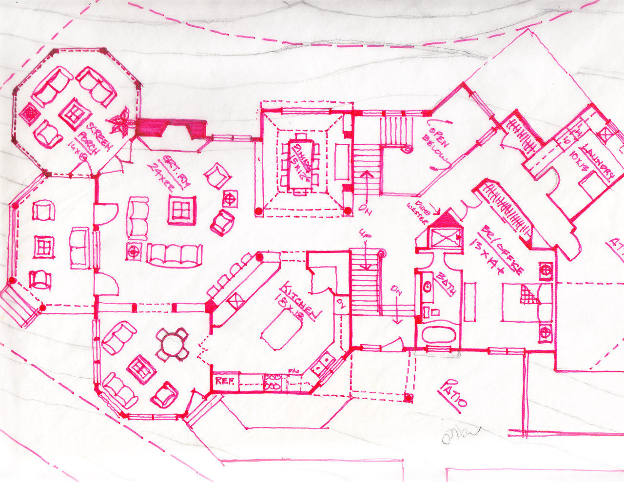 Design directive residential design sample sketches for Floor plan sketch