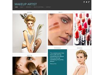 Makeup Artist. Website Template   WIX