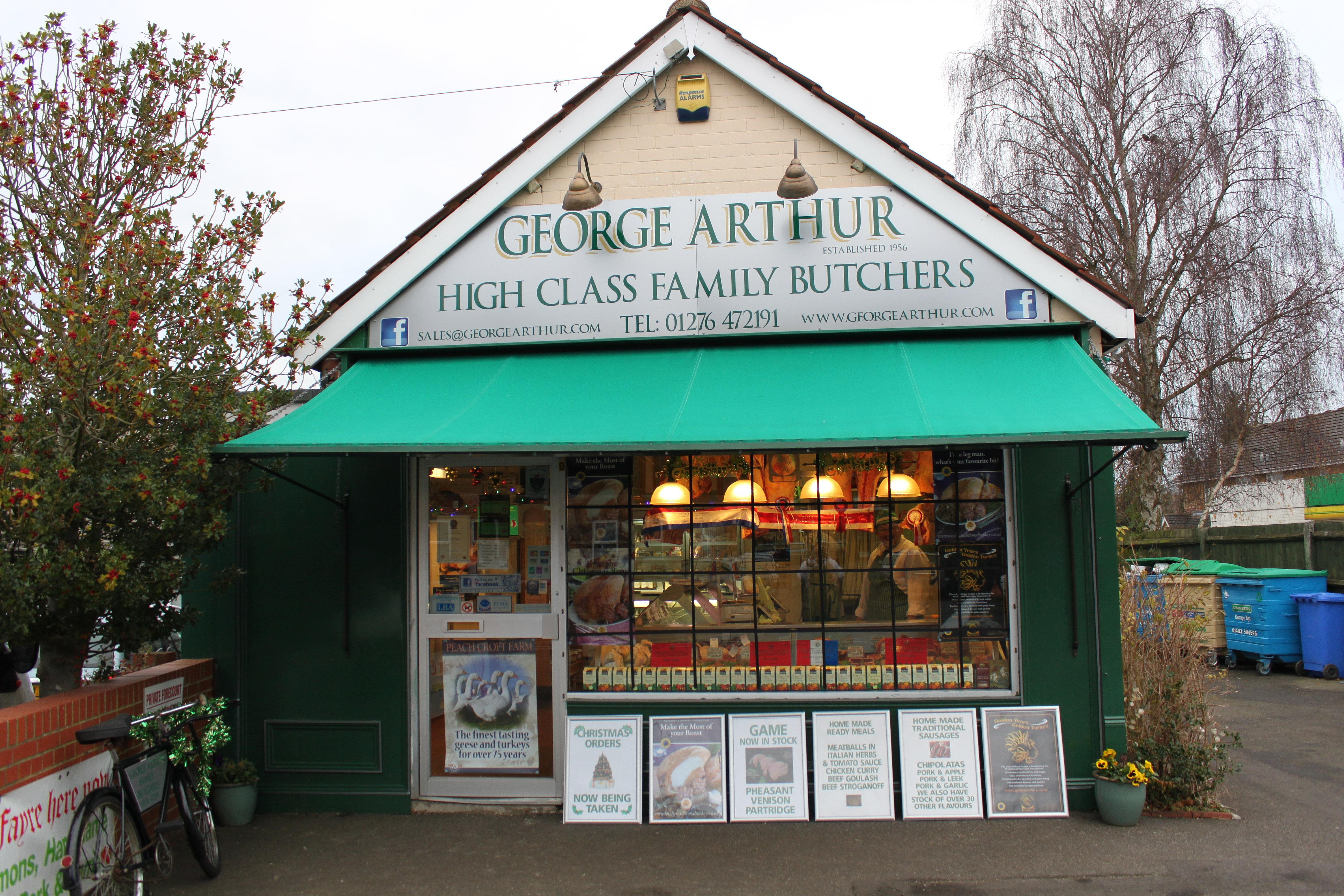 Auu >> George Arthur Butchers Ltd | Christmas Shop Front