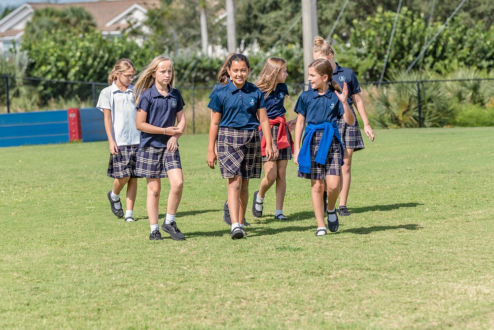 5th grade girls on playground