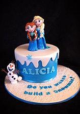 Frozen cake Anna, Elsa, Olaf
