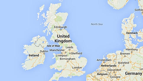UK map for gifts for little hands delivery information page