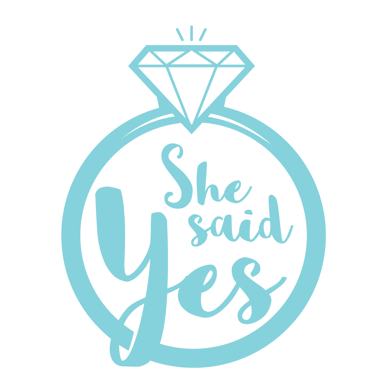 She Said Yes Images - Premium Invitation Template Design | Bliss Escape