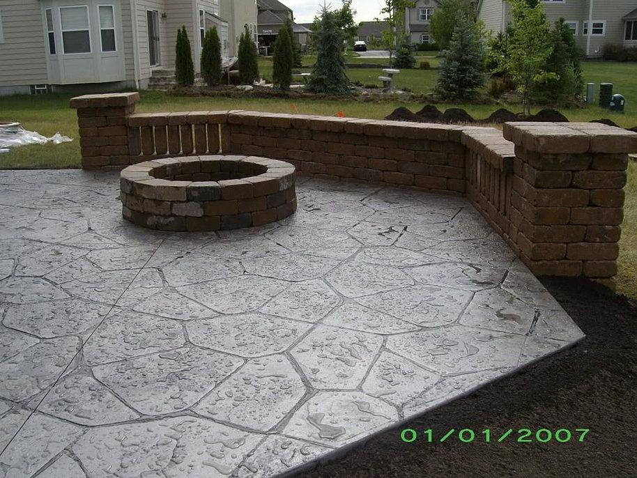 Cost Stamped Concrete Patio 17 Best Ideas About Concrete  Patio Vs Deck