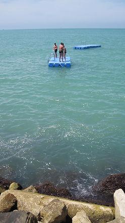 Raft at beach in pisa.jpg