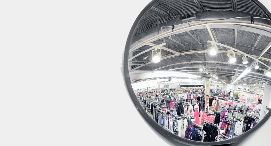 Mirror safety and security for retail store for Safe and secure products