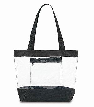 Clear Medium Tote Bag - BG201-BLK