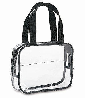 Clear Cosmetic Bag - 8421-BLK