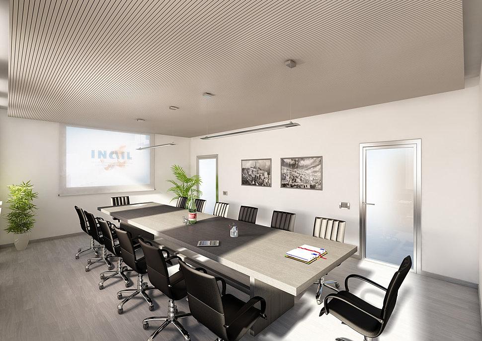 Mezzettidesign render rendering interior design a roma for Sala riunioni