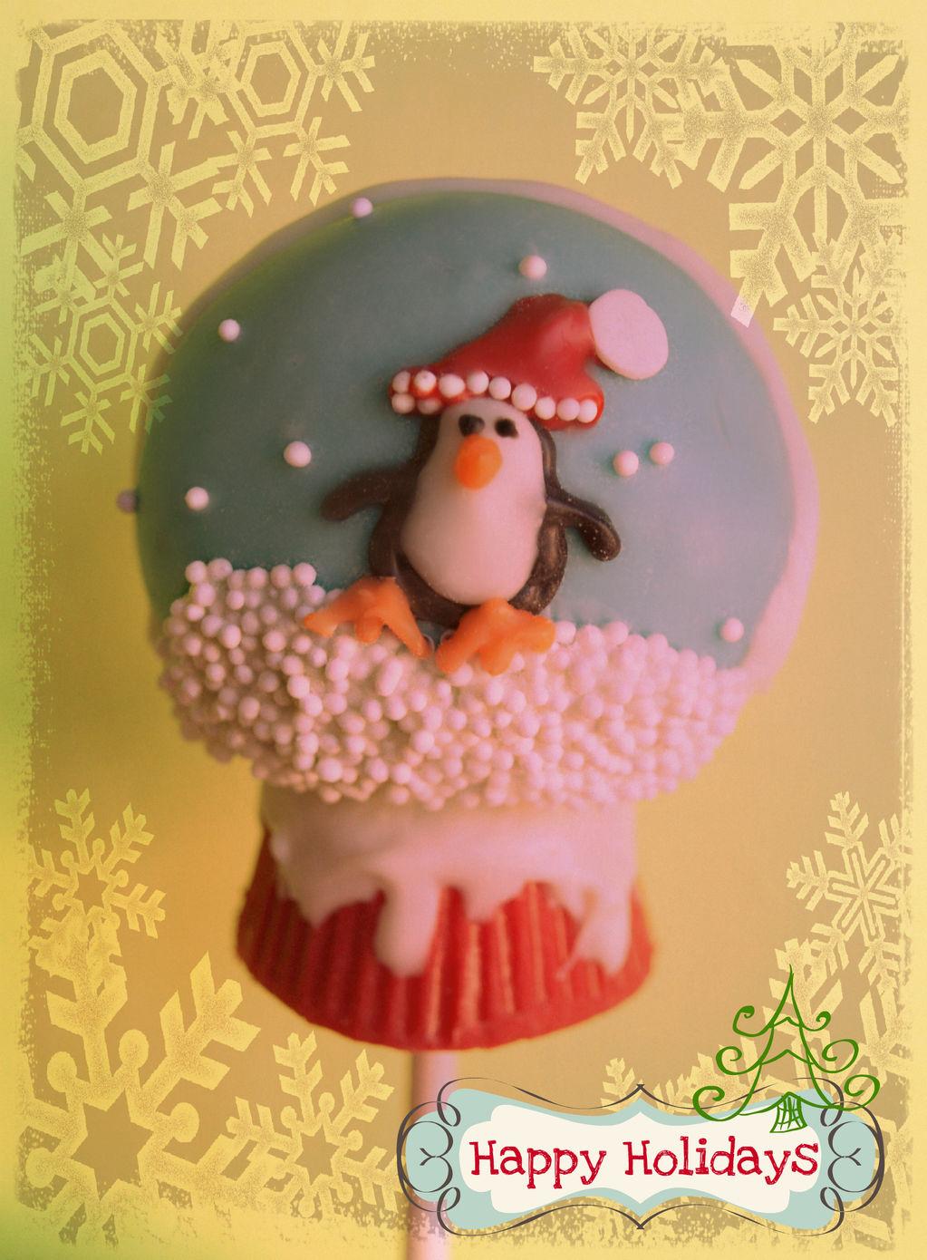 Snow globe cake pop