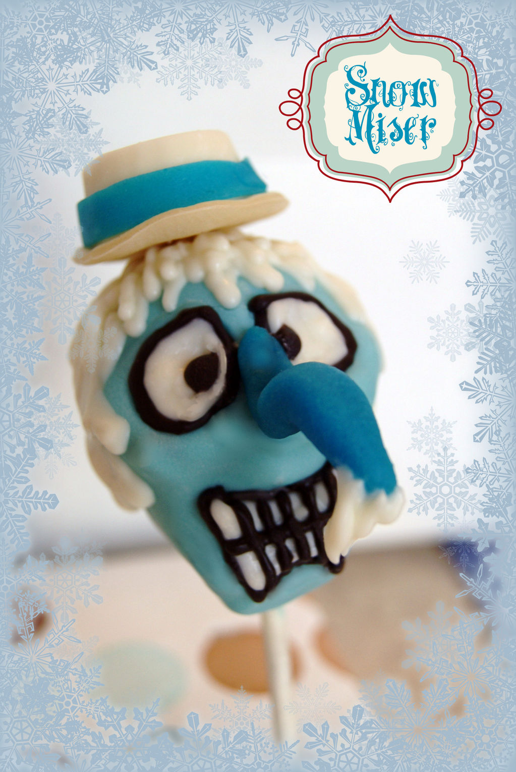 snow miser cake pop