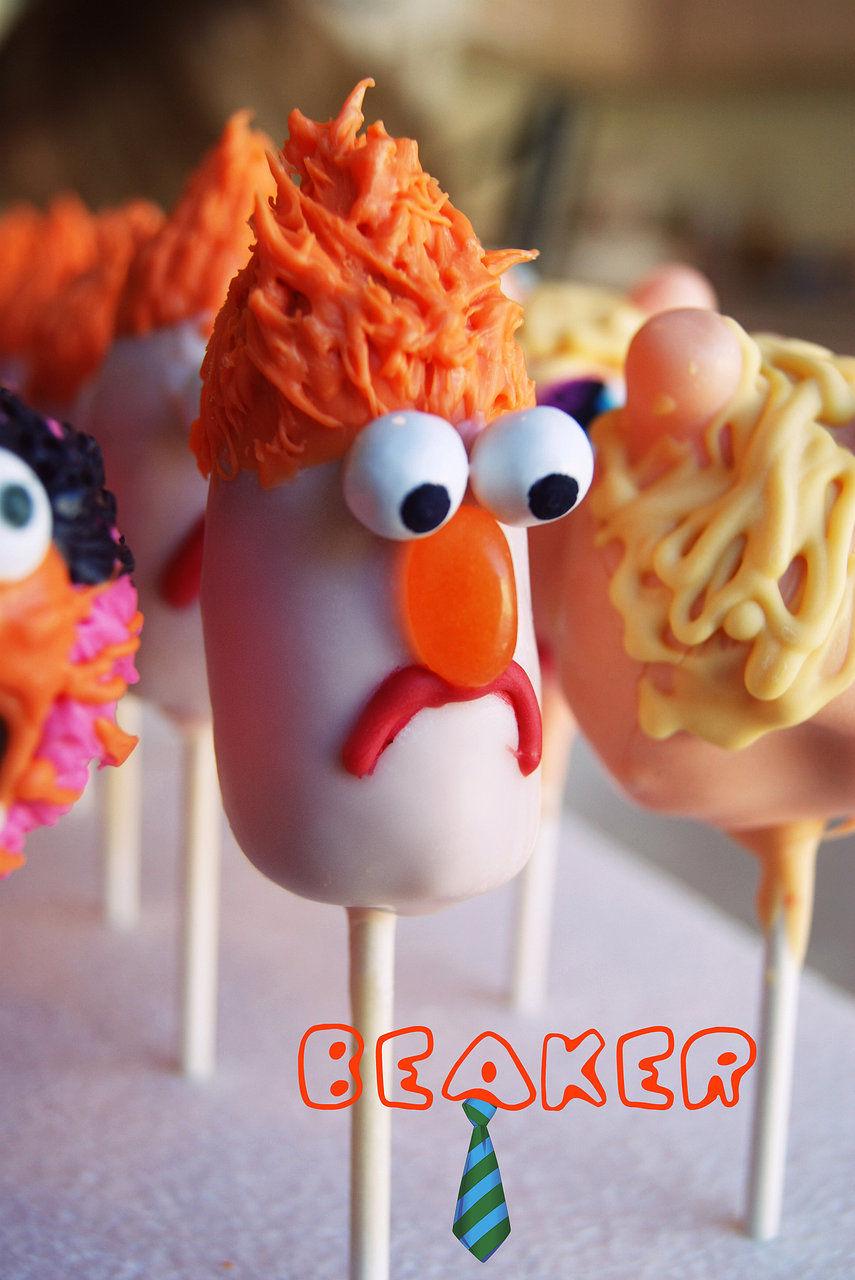 Beaker muppet cake pop