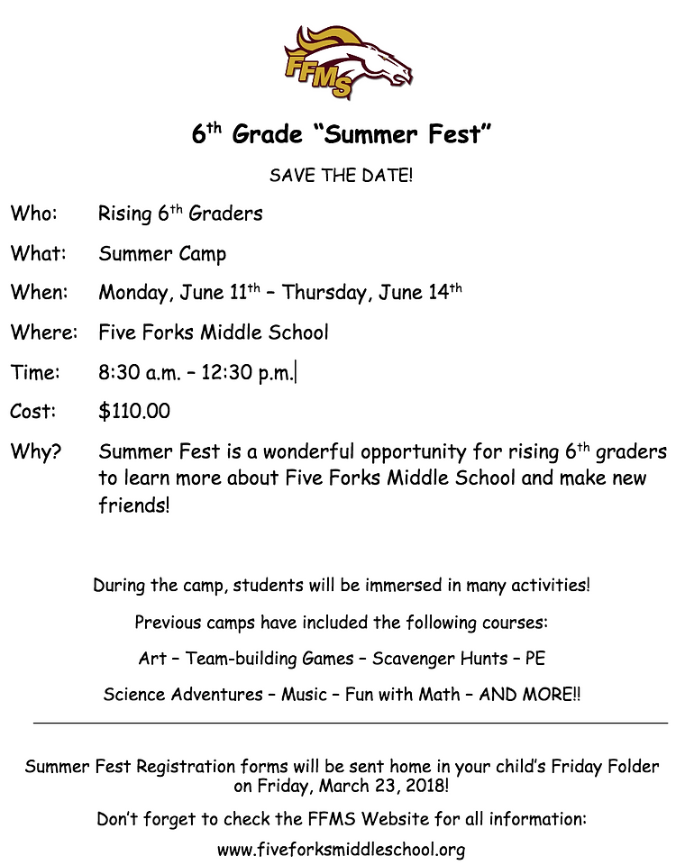 five-forks-middle   Rising 6th Grade Information