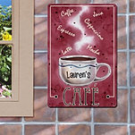 Metal Cafe Wall Sign