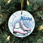 Ice Skates Ceramic Ornament