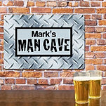 Man Cave Metal Wall Sign