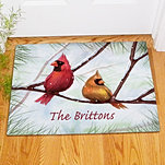 Winter Cardinals Doormat